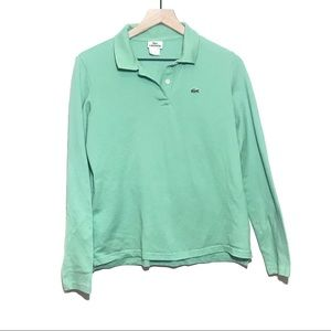 Lacoste Long Sleeve Green Polo